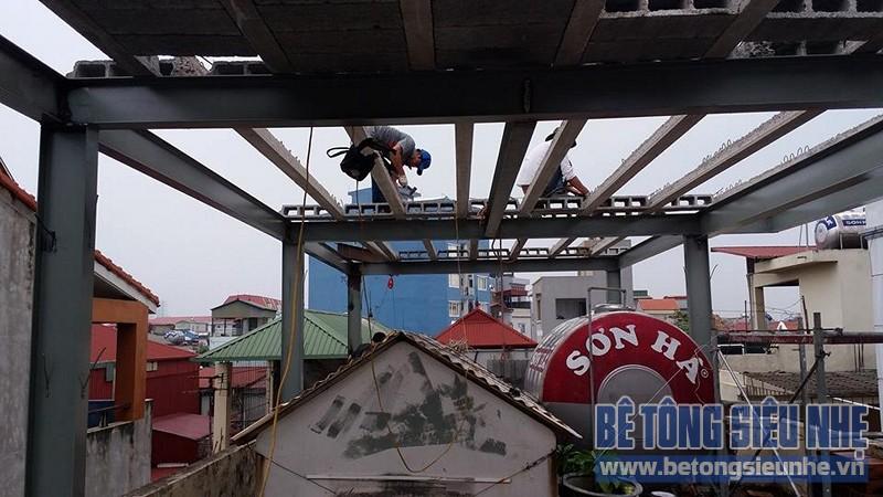 Cải tạo nhà ống sử dụng kết cấu nhà khung thép sàn bê tông nhẹ tại Nguyễn Trãi - 03