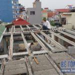 Cải tạo nhà ống sử dụng kết cấu nhà khung thép sàn bê tông nhẹ tại Nguyễn Trãi