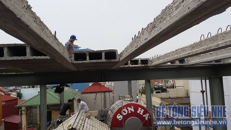 Cải tạo nhà ống sử dụng kết cấu nhà khung thép sàn bê tông nhẹ tại Nguyễn Trãi - 01