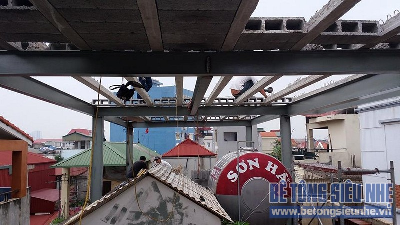 Cải tạo nhà ống sử dụng kết cấu nhà khung thép sàn bê tông nhẹ tại Nguyễn Trãi - 02