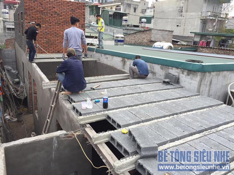 Cập nhật loạt ảnh thi công sàn bê tông nhẹ tại phường Gia Thụy, Long Biên