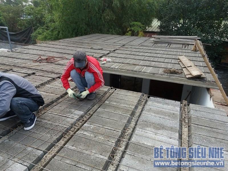 Công trình cải tạo nhà dân dụng bằng bê tông nhẹ tại Đông Anh