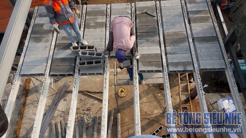 Công trình nhà khung thép kết hợp bê tông nhẹ tại Đông Anh