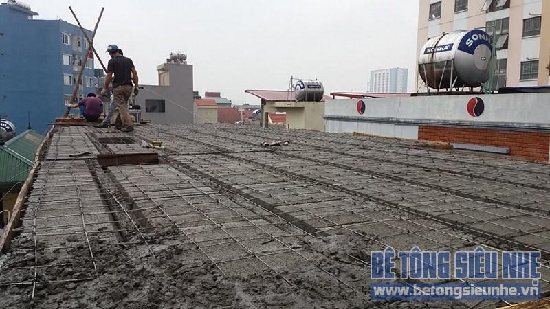Thi công sàn bê tông nhẹ cho nhà dân dụng sử dụng kết cấu nhà khung thép tại Long Biên - 06