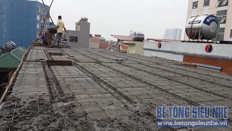 Thi công sàn bê tông nhẹ cho nhà dân dụng sử dụng kết cấu nhà khung thép tại Long Biên - 05