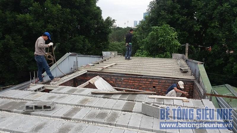 Thi công sàn bê tông nhẹ cho nhà dân dụng sử dụng kết cấu nhà khung thép tại Long Biên - 04