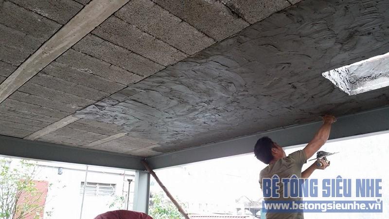 Thi công sàn bê tông nhẹ cho nhà dân dụng sử dụng kết cấu nhà khung thép tại Long Biên - 03