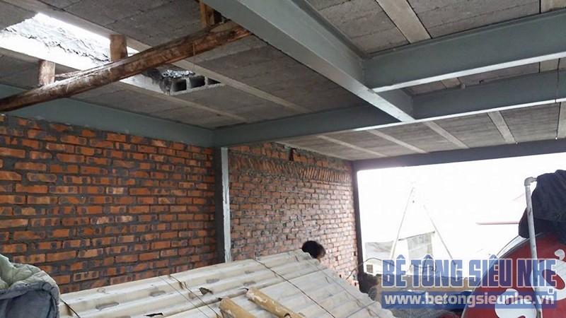 Thi công sàn bê tông nhẹ cho nhà dân dụng sử dụng kết cấu nhà khung thép tại Long Biên - 01