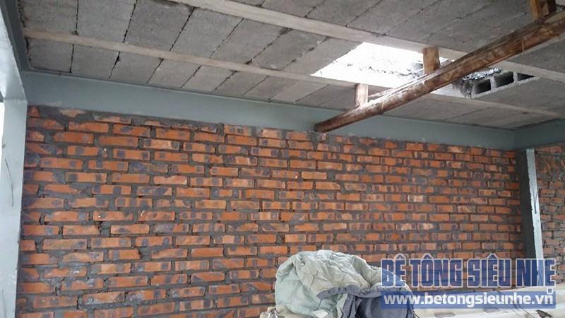 Thi công sàn bê tông nhẹ cho nhà dân dụng sử dụng kết cấu nhà khung thép tại Long Biên - 02