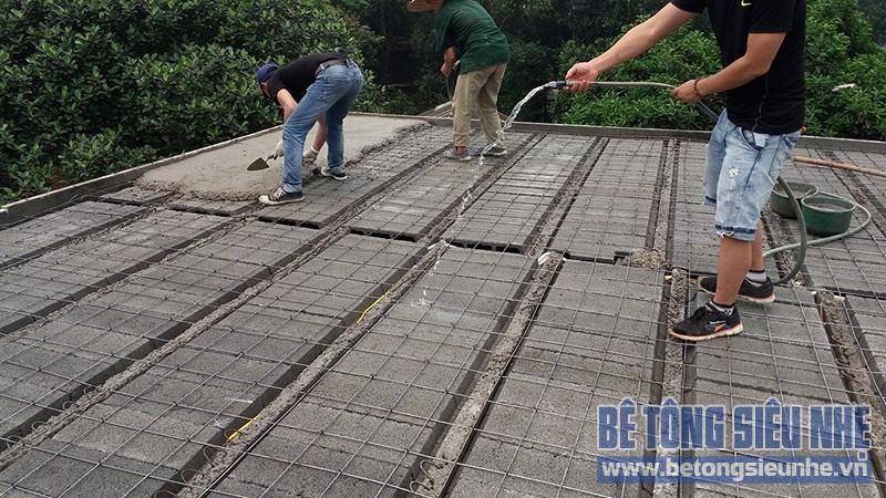 Thi công công trình nhà vườn sử dụng sàn bê tông nhẹ làm mái tại Sơn Tây - 05