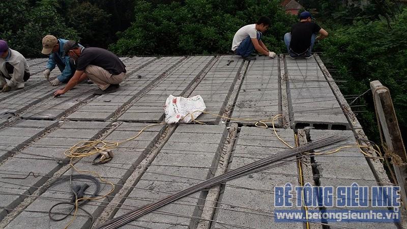 Thi công công trình nhà vườn sử dụng sàn bê tông nhẹ làm mái tại Sơn Tây - 01