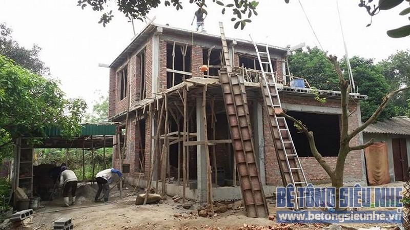 Thi công công trình nhà vườn sử dụng sàn bê tông nhẹ làm mái tại Sơn Tây - 06Thi công công trình nhà vườn sử dụng sàn bê tông nhẹ làm mái tại Sơn Tây - 06