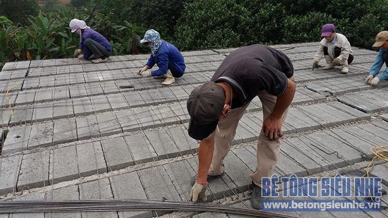 Thi công công trình nhà vườn sử dụng sàn bê tông nhẹ làm mái tại Sơn Tây - 03
