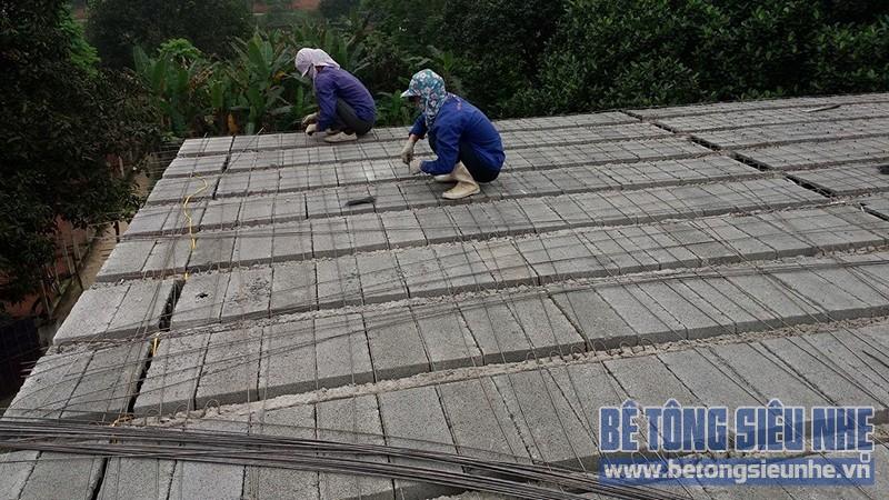 Thi công công trình nhà vườn sử dụng sàn bê tông nhẹ làm mái tại Sơn Tây - 02