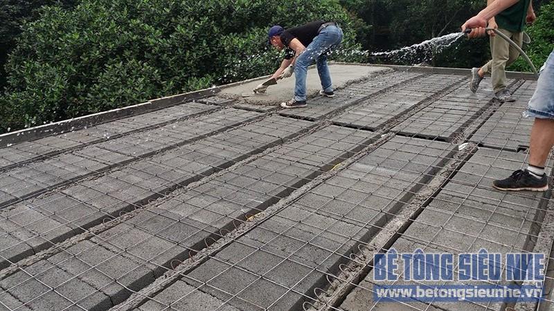 Thi công công trình nhà vườn sử dụng sàn bê tông nhẹ làm mái tại Sơn Tây - 04