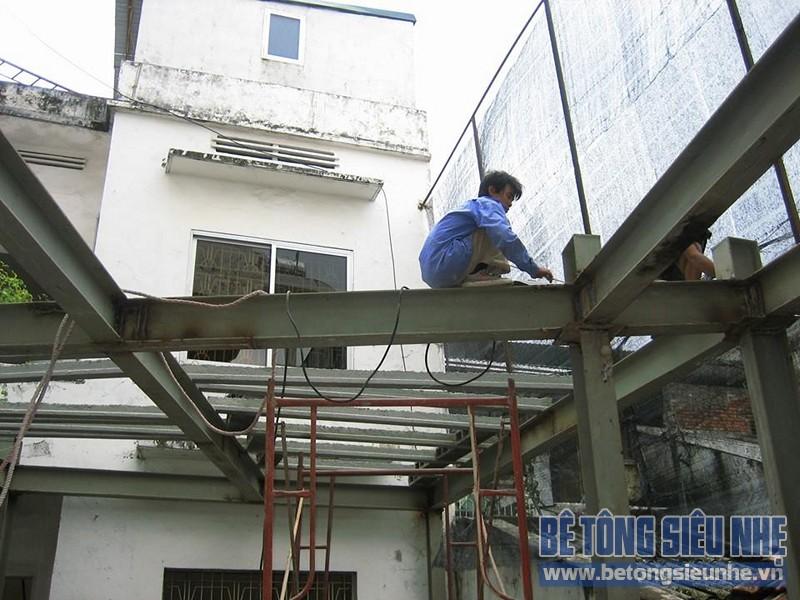Thi công công trình sửa nhà dùng sàn bê tông siêu nhẹ tại Hà Đông - 02