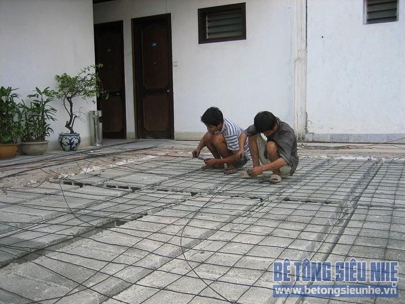 Thi công công trình sửa nhà dùng sàn bê tông siêu nhẹ tại Hà Đông - 04