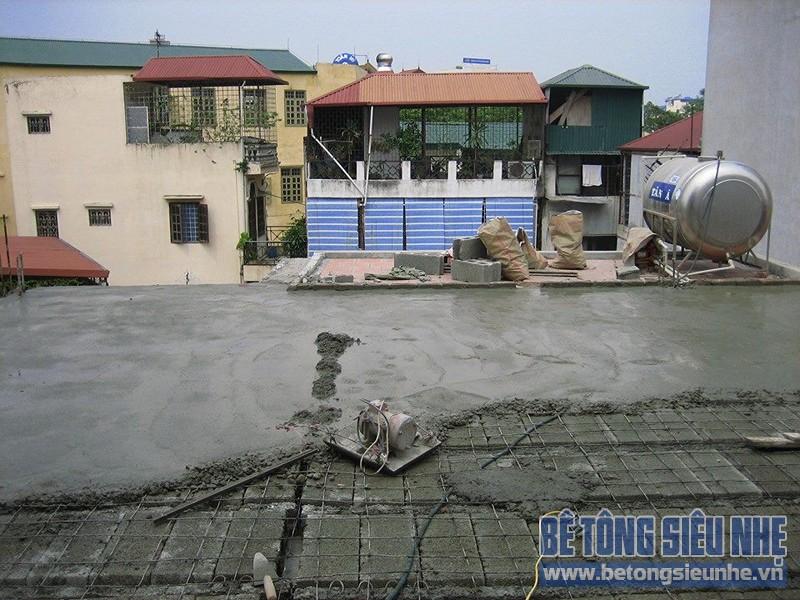 Thi công công trình sửa nhà dùng sàn bê tông siêu nhẹ tại Hà Đông - 07