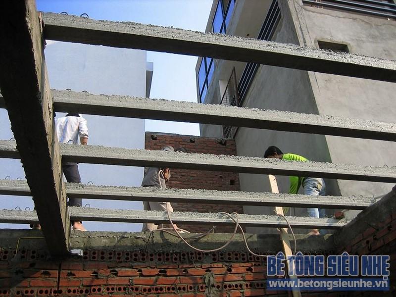 Thi công công trình sửa nhà dùng sàn bê tông siêu nhẹ tại Hà Đông - 01