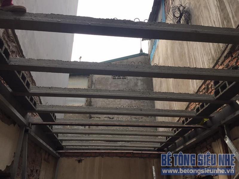 Sửa nhà phố bằng bê tông siêu nhẹ tại Hồng Hà. Hoàn Kiếm