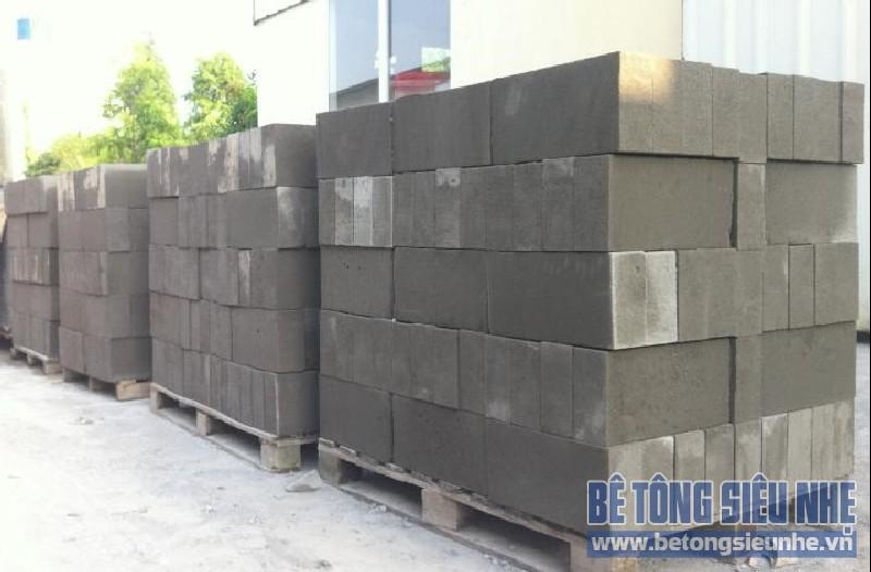Thành phần và ưu điểm vượt trội của gạch bê tông nhẹ