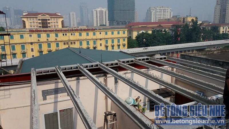 Thi công cải tạo nhà ở bằng bê tông siêu nhẹ tại Nguyễn Trãi, Thanh Xuân