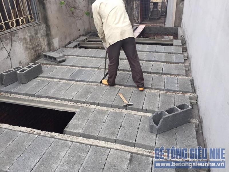 Thi công lắp ghép sàn bê tông nhẹ tại phường Đức Thắng, quận Bắc Từ Liêm