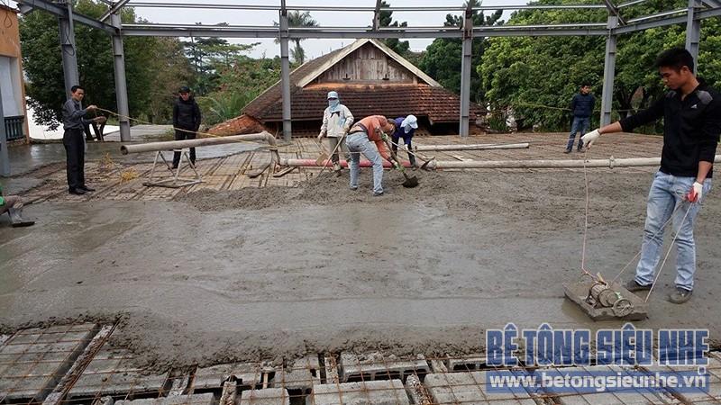 Thi công nhà khung thép 2 tầng kết hợp sàn bê tông nhẹ công trình Tản Đà Resort - 06