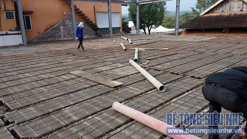 Thi công nhà khung thép 2 tầng kết hợp sàn bê tông nhẹ công trình Tản Đà Resort - 05