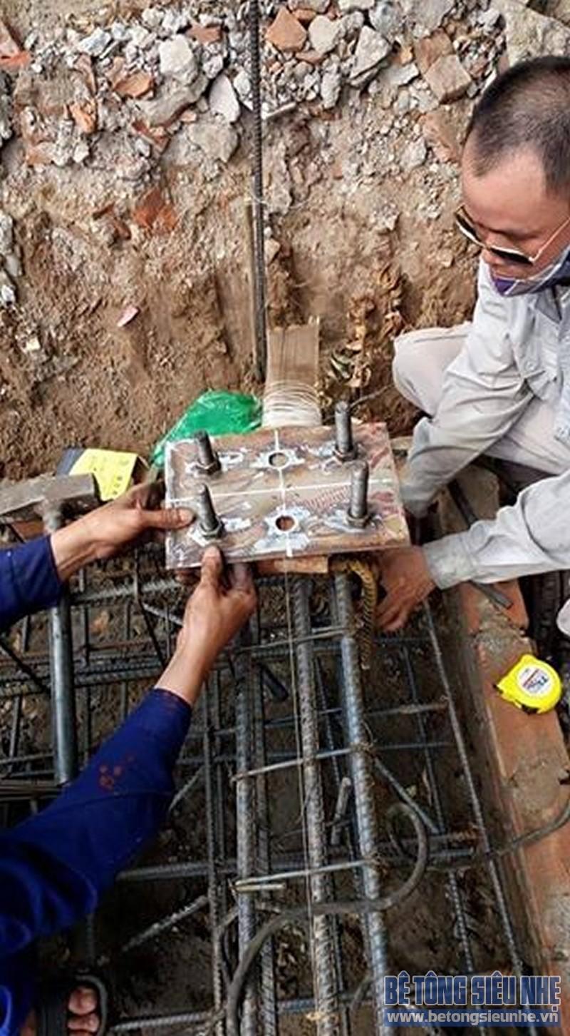 Thi công nhà khung thép 2 tầng sàn bê tông nhẹ cho nhà văn phòng tại Hưng Yên - 01