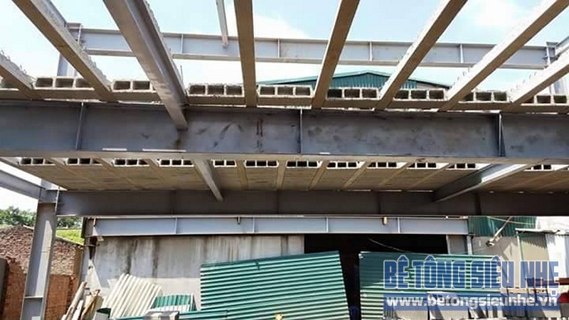 Thi công nhà khung thép 2 tầng sàn bê tông nhẹ cho nhà văn phòng tại Hưng Yên - 05