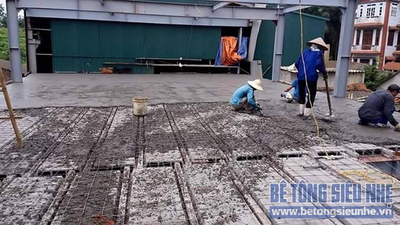 Thi công nhà khung thép 2 tầng sàn bê tông nhẹ cho nhà văn phòng tại Hưng Yên - 06