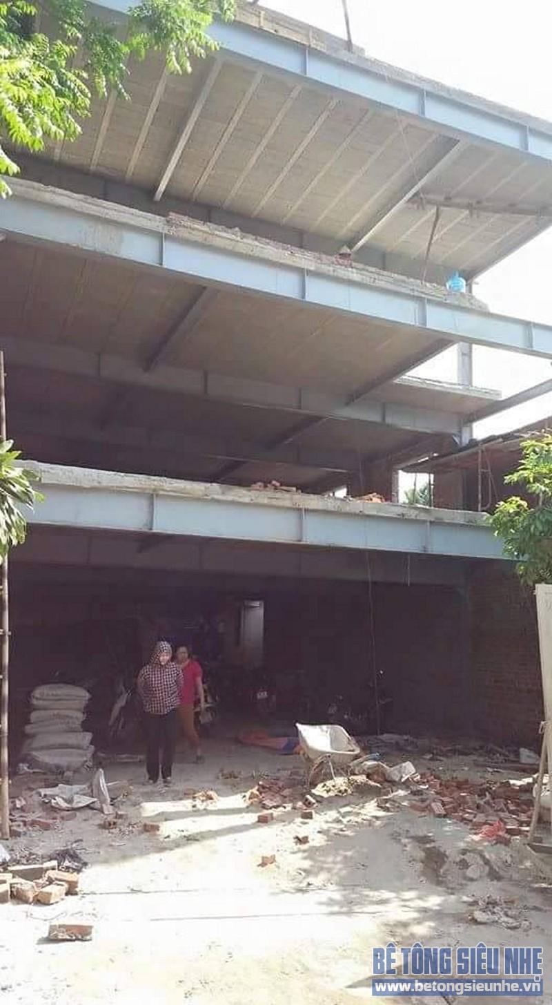 Thi công nhà khung thép 2 tầng sàn bê tông nhẹ cho nhà văn phòng tại Hưng Yên - 07