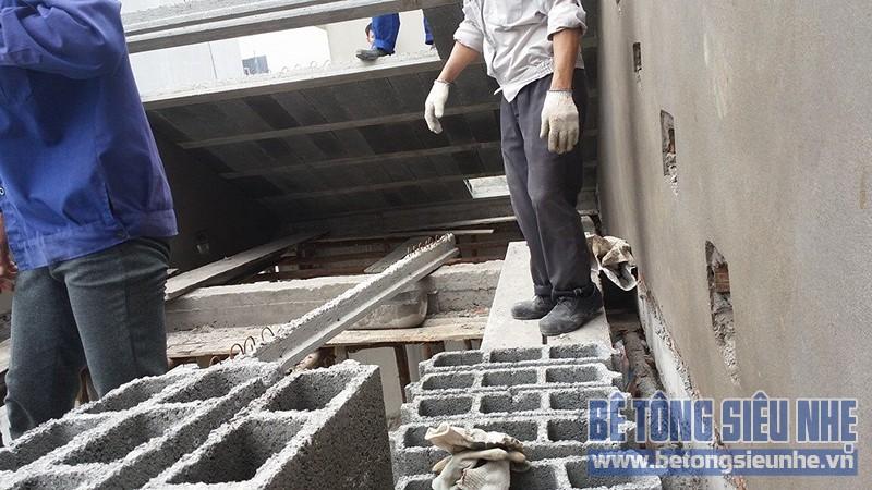 Thi công sàn bê tông nhẹ làm trần - mái công trình nhà dân dụng tại Lê Đức Thọ - 05