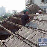 Thi công sàn bê tông nhẹ làm trần – mái công trình nhà dân dụng tại Lê Đức Thọ