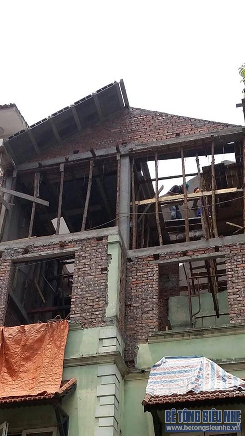 Thi công sàn bê tông nhẹ làm trần - mái công trình nhà dân dụng tại Lê Đức Thọ - 01