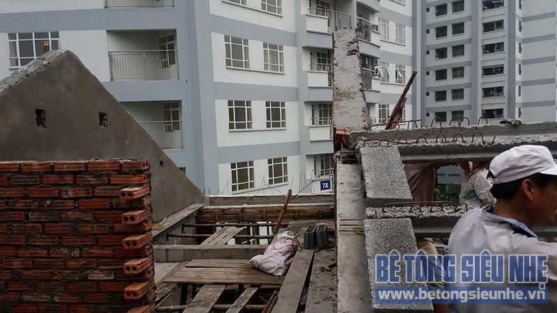 Thi công sàn bê tông nhẹ làm trần - mái công trình nhà dân dụng tại Lê Đức Thọ - 04