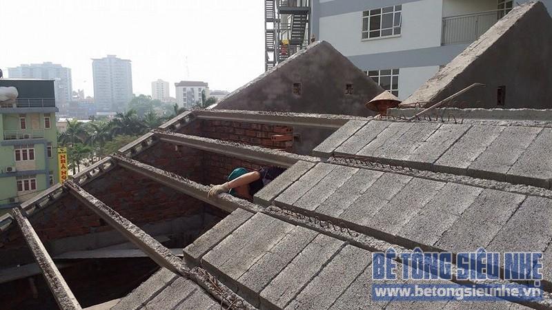 Thi công sàn bê tông nhẹ làm trần - mái công trình nhà dân dụng tại Lê Đức Thọ - 02
