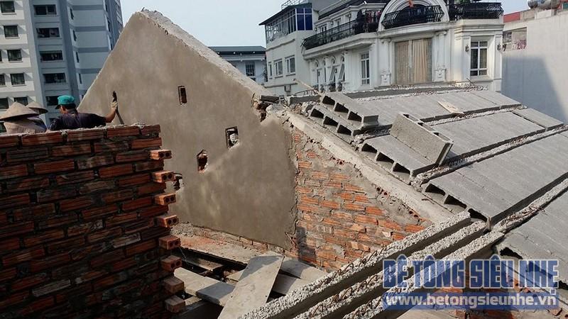 Thi công sàn bê tông nhẹ làm trần - mái công trình nhà dân dụng tại Lê Đức Thọ - 03
