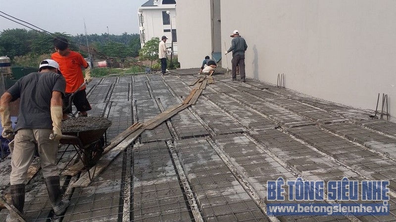 Thi công sàn bê tông siêu nhẹ cho siêu thị mini tại Việt Hưng