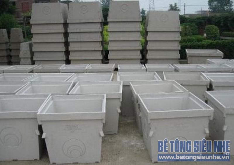 Máng thức ăn công nghiệp được tạo từ bê tông Polymer