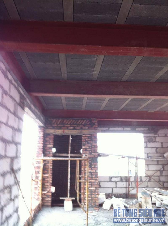 Thi công cải tạo nhà bằng việt liệu nhẹ: nhà thép tiền chế kết hợp sàn bê tông siêu nhẹ nhà anh Nam