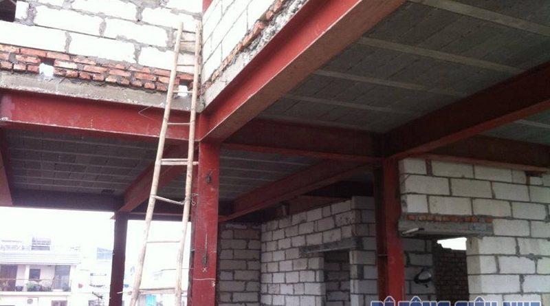 Công trình cải tạo nhà bằng vật liệu nhẹ, sàn bê tông siêu nhẹ nhà anh Nam, ngõ 86 Âu Cơ