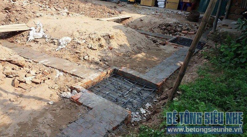 Làm móng dựng khung nhà thép tiền chế 2 tầng cho nhà xưởng tại Vĩnh Ngọc - Đông Anh