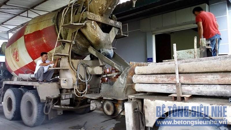 Công trình sửa nhà kho thuốc bằng sàn bê tông nhẹ của Công ty Hanvet Hưng Yên