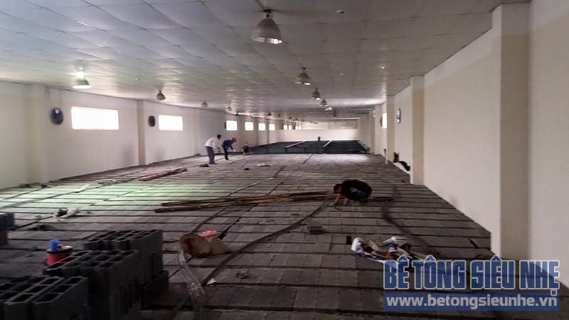 Công trình sửa nhà kho thuốc bằng sàn bê tông nhẹ của CônCông trình sửa nhà kho thuốc bằng sàn bê tông nhẹ của Công ty Hanvet Hưng Yêng ty Hanvet Hưng Yên