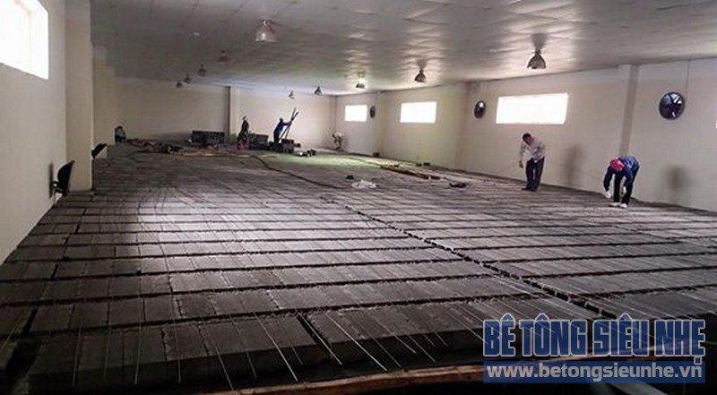Nâng tầng, sửa nhà kho thuốc bằng sàn bê tông nhẹ của Công ty Hanvet Hưng Yên