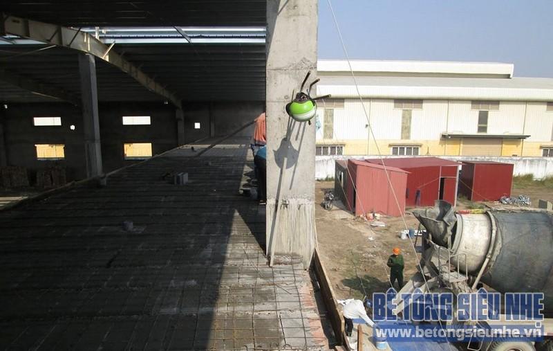 Cập nhật loạt ảnh thi công sàn bê tông siêu nhẹ tại Từ Sơn - Bắc Ninh