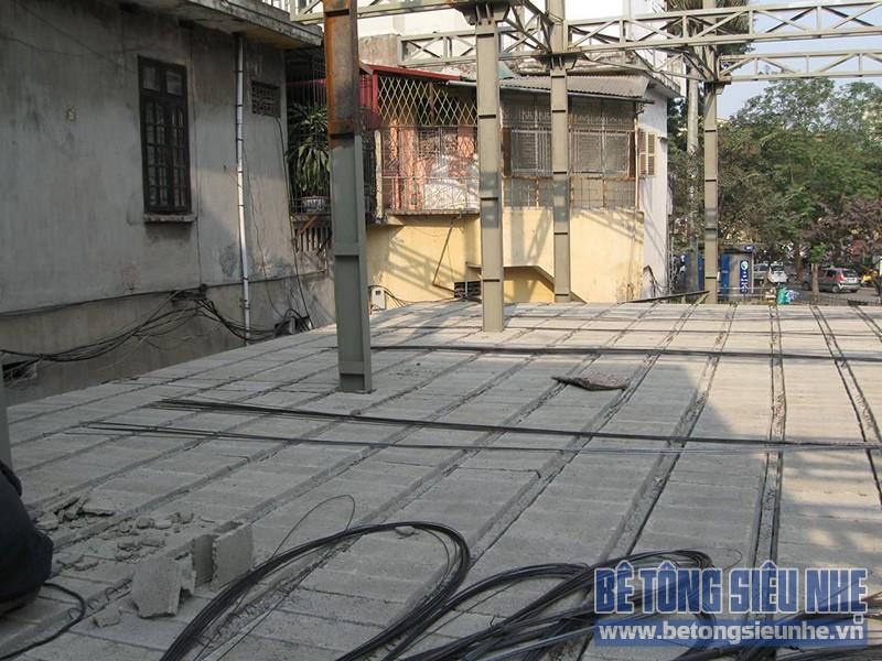 Lắp ghép sàn bê tông nhẹ cho tầng 1