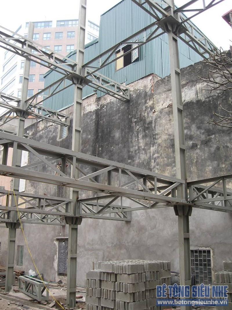 Quy trình dựng nhà khung thép, làm sàn bê tông siêu nhẹ cho nhà hàng tại Trương ĐịnhQuy trình dựng nhà khung thép, làm sàn bê tông siêu nhẹ cho nhà hàng tại Trương Định